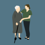 giving care to elderly